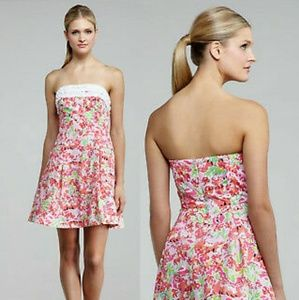 Lilly Pulitzer Call Me Kitty Ferra Strapless Dress